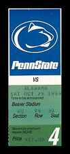 1989 Penn State v Alabama Football Ticket 10/28/89 24983