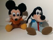 New listing 2 Vintage 1984 Hardees Disney Plush A Christmas Carol Mickey Mouse & Goofy Toy