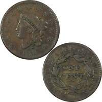 1831 Coronet Head Large Cent VF Very Fine Copper Penny 1c US Type Coin