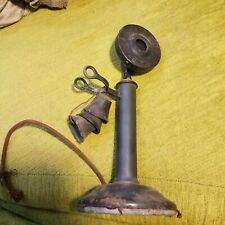 Antique old early western electric Candlestick Telephone American Bell property
