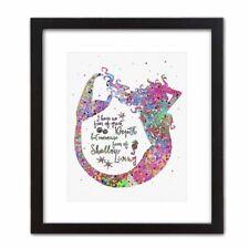 Pop Art Print MERMAID LIFE Watercolor Abstract Colorful Girl Bedroom Decor Gift