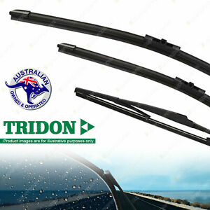 Tridon Front + Rear Windscreen Wiper Blades for Holden Astra AH 04-12
