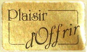 15 Etiquettes autocollantes stickers cadeaux  'Plaisir d'Offrir' Or - Ref S17