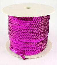 0,50€/m 5 m Pailettenband pink 6 mm flach Pailetten Bauchtanz Kostüm nähen Neu