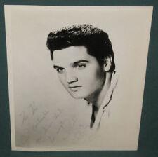 Elvis Presley 8 x 10 B/W Photo 1950's RARE E.P. Continentals Fan Club Card NM