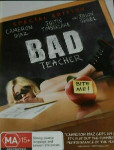 Bad Teacher DVD Special Edition - Cameron Diaz - FREE POSTAGE IN AUSTRALIA