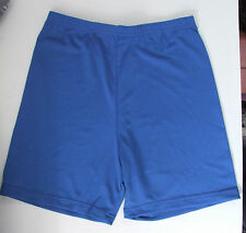 Ladies/girls 34 Cintura Lycra Gym Shorts Netball bragas de ciclo corto Royal Blue