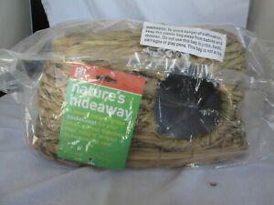 Nature's Hideaway Grass Hut  Medium 1097 Grass Basket Nest For Small Animals