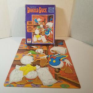 Rare 1970's Vintage Whitman, Disney Donald Duck, 100 Pc Jigsaw Puzzle, Complete