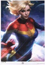 Stanley Artgerm Lau SIGNED Comic Super Hero Avengers Art Print ~ Captain Marvel