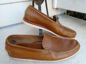 Allen Edmonds Grand Canal Venetian Loafer 11D cognac Casual Leather Mens Shoe !!