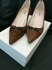 LK BENNETT BROWN COURT SHOES SIZE 6 USED - STILL IN BOX