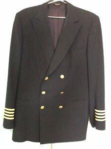 Vintage Delta Airlines Captain's Uniform Blazer, Pilot Jacket, w/Buttons