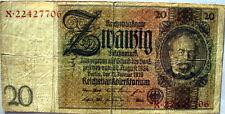 151.5 DWADZIESCIA REICHMARK 1929