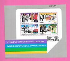 THAILAND Sc 1036a NH SOUVENIR SHEET OF 1983 - EXPO - POSTAL SERVICE