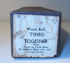 QRS Player Piano Word Roll Together #7980 Waltz 1944