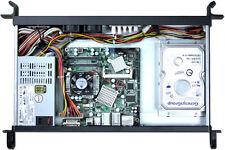 1U (ITX) (2xHDDs)(Rackmount Chassis)(D:9.84)(2x4cm Fans)(Aluminum Front Case)NEW