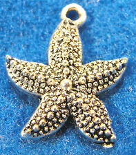 10Pcs. Tibetan Silver STARFISH Star Fish  Charms Pendants Earring Drops OT29