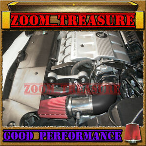 BLACK RED 2000-2002/00-02 CADILLAC ELDORADO ESC/ETC 4.6 4.6L V8 AIR INTAKE KIT
