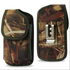 Camo Nylon Pouch Belt Clip For Samsung Galaxy S4 S5 w/ External Battery Case On