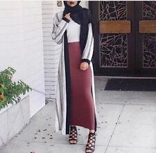 Muslim Islamic Bodycon Slim High Waist Stretch Maxi Women Pencil Skirt Clothing