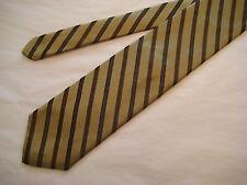 Robert Talbott Hand Sewn Silk Neck Tie Golden Taupe/Brown/Charcoal
