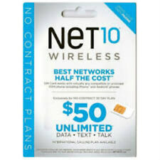 NET10 Prefunded Dual Size SIM Card Preloaded with $50 Plan 5GB Data