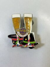 Hard Rock Cafe Pin 2008 Happy New Year Champagne Glasses Moveable Like Toasting
