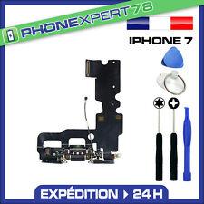 NAPPE DOCK DE CHARGE + MICRO POUR IPHONE 7 NOIR + KIT OUTILS