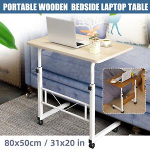 Laptop Desk Table Adjustable Height Rolling Hospital Bedside Cart Over Bed Stand