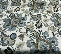 Chenille Upholstery Swavelle Floral Ambra Smoke Jacobean Fabric By The Yard