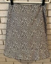 Ann Taylor Black and Cream Flared Skirt w/Ruffled Hem-Beautiful Size 6 EUC (S1)