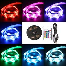 1/2/5M USB RGB LED Stripe Lichterkette Leiste Streifen TV Hintergrundbeleuchtung