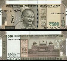 India 500 Rs Cutting Error 2017 S Inset Paper Money Bank Note Unc Rare