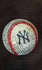 ONE OF A KIND SWAROVSKI CRYSTAL HAND STONED YANKEES BASEBALL  ANY TEAM AVAILABLE
