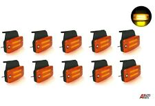 10 Amber Led Neon Side Marker Lights 12-24v Lamp Truck Trailer Lorry Chassis Bus