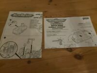 Micro Machines Combat Carrier And Super Stunt City Instructions Lot