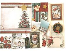 Christmas Paper Craft Supplies, Stamperia Double Sided Pictures Tags Scrap Paper