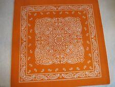 Nobility Placemats - set of 6 orange - bandana style - new with tags