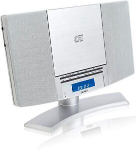CD Player Stereo Denver MC-5220 MK2 Wall Mountable FM Radio, Clock Alarm & RC