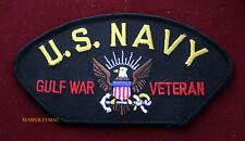 US NAVY GULF WAR VETERAN HAT PATCH LOGO SEAL USS NAS NAF IRAQ OIF PERSIAN GIFT