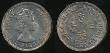 Hong Kong, British Colony, 1968 Fifty Cents, 50c, Elizabeth II - Uncirculated