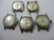 Vintage Lot of 5 Men's Watches including WITTNAUER BULOVA BENRUS Selling As Is