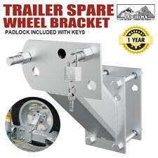Spare Wheel Bracket Carrier Holder Tyre Galvanised Trailer Part Caravan Boat