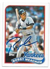 BOBBY MEACHAM 1989 TOPPS AUTOGRAPHED SIGNED # 436 YANKEES