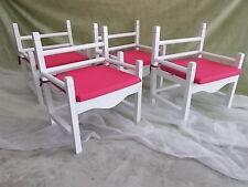 Set de 4 SILLONES para niños. Modelos Pink Armchair