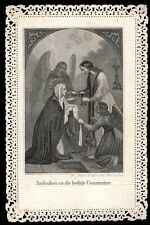 santino merlettato-holycard-canivet S.GIOVANNI EV.COMUNICA LA VERGINE MARIA