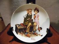 Vintage Norman Rockwell Collectors The COBBLER Hanging Plate 1982