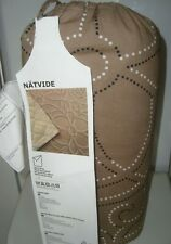 Ikea Bedspread Queen / King Beige Swirlls Quilted for Queen or King size bed New
