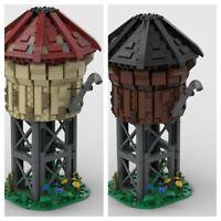 Custom Lego 2 TRAIN WATER TOWER MOC MANUAL PDF MOC M1 train city MEDIEVAL TRAIN
